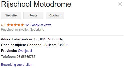 beoordeling rijschool google