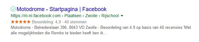 facebook beoordeling